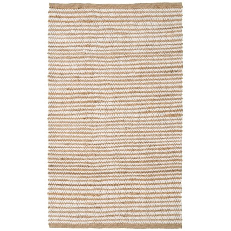 """Artisan Home Skinny Stripe Jute-Cotton Accent Rug - 36x60"""" in Natural"""