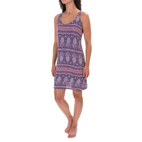 Artisan NY Aztec Stamp-Print Chemise - Rayon, Sleeveless (For Women) in Maroon