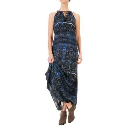 Artisan NY Challis Halter Dress - Rayon, Sleeveless (For Women) in Scallop Tribal Batik - Overstock