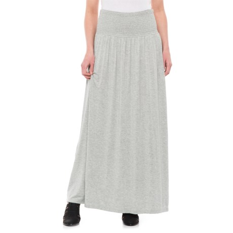 Artisan NY Circle Maxi Skirt (For Women) in Light Heather Grey