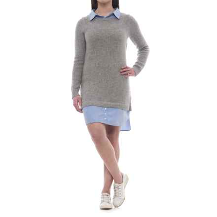 Artisan NY Collared Sweater Dress - Long Sleeve (For Women) in Grey/Chambray - Closeouts
