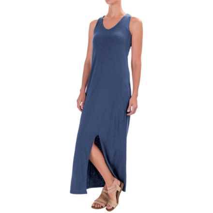 Artisan NY Cotton Racerback Maxi Dress - V-Neck, Sleeveless (For Women) in Harbor - Closeouts
