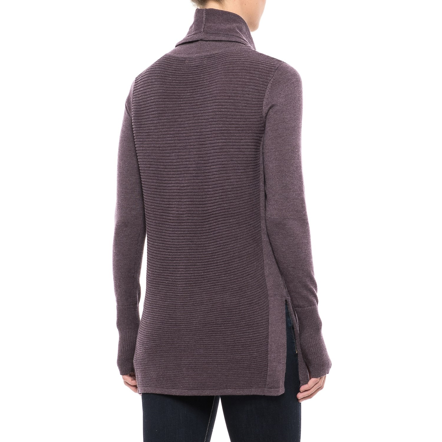 Artisan NY Cowl Neck Ribbed Tunic Sweater (For Women) - Save 44%
