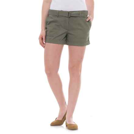 Artisan NY D-Ring Belted Shorts (For Women) in Olive - Closeouts
