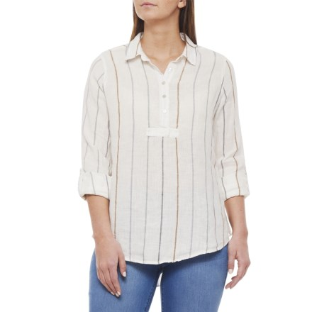 eda0d58e1bf Artisan NY Desert Stripe Yarn Dyed Popover Shirt - Long Sleeve (For Women)  in