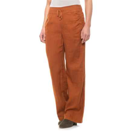 80d1878771 Artisan NY Dusted Earth Solid Drawstring Waist Pants - Linen (For Women) in  Dusted