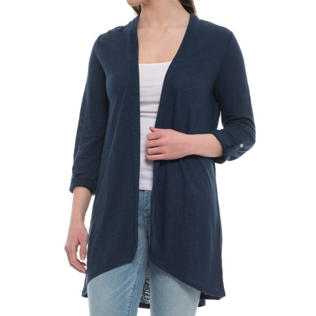 Artisan NY Duster Sweater - Long Roll-Tab Sleeve (For Women) in Deep Pacific