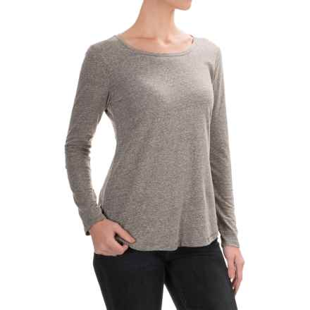 Artisan NY Heathered Jersey-Knit Shirt - Long Sleeve (For Women) in Brown Nube - Closeouts