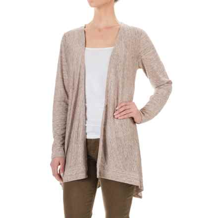 Artisan NY Heathered Linen Cardigan Shirt - Long Sleeve (For Women) in Oatmeal Heather - Closeouts