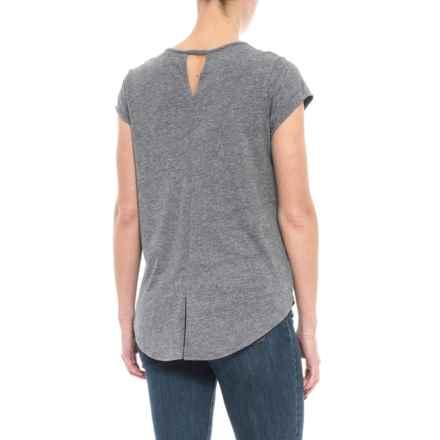 Artisan NY Keyhole Split-Back T-Shirt - Short Sleeve (For Women) in Navy - Closeouts