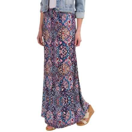 Artisan NY Layered Faberge Maxi Skirt (For Women) in Navy - Overstock