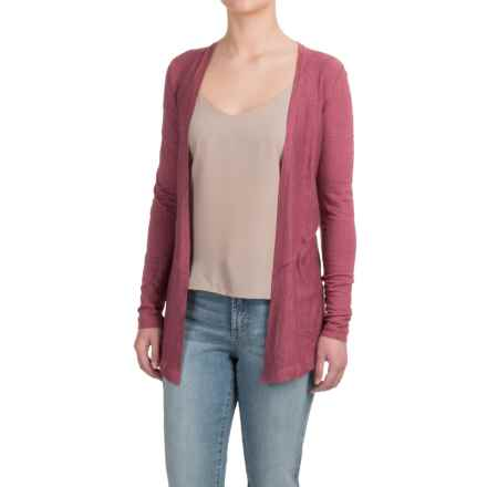Artisan NY Linen Cardigan Shirt - Long Sleeve (For Women) in Band Wagon - Overstock
