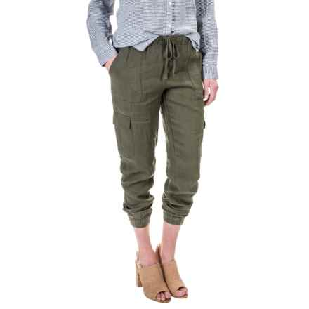 Artisan NY Linen Cargo Pocket Joggers (For Women) in Clover - Overstock