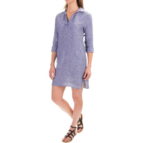 Artisan Ny Linen Chambray Shirt Dress For Women Save 52