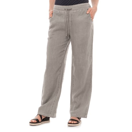 Artisan NY Linen Drawstring Pants (For Women) in Washed Grey