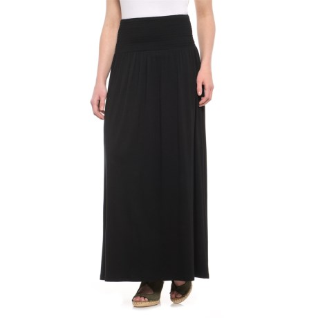 Artisan NY Maxi Circle Skirt with Wide Smocking (For Women) in Black