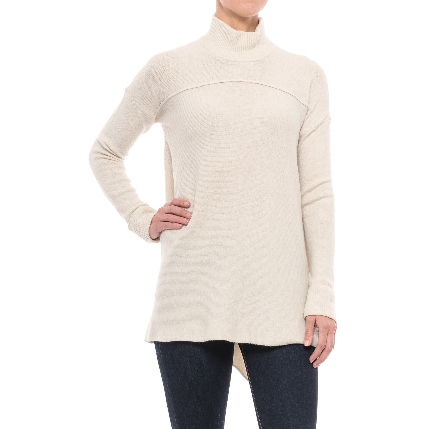 Artisan NY Mock Neck Tunic Sweater (For Women) - Save 48%