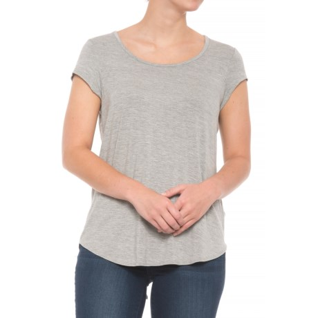 Artisan NY Mod Mix Shirt - Short Sleeve (For Women) in Charcoal