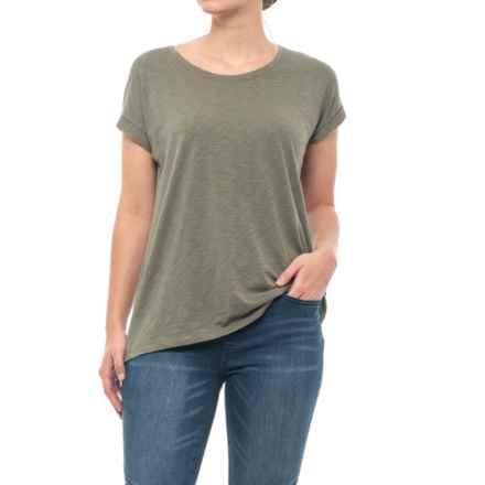 Artisan NY Mod Slub T-Shirt - Short Sleeve (For Women) in Split Pea - Closeouts