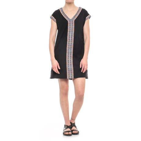 Artisan NY Neon Embroidered Wedge Dress - Sleeveless (For Women) in Black