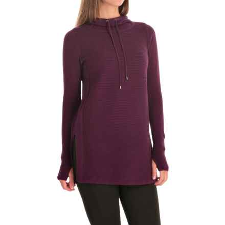 Artisan NY Ottoman Hoodie Sweater (For Women) in Wine Heather - Closeouts