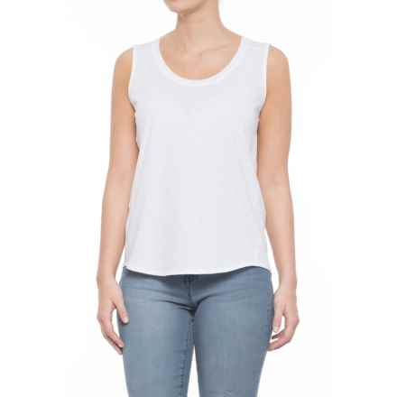 Artisan NY Pima Cotton Scoop Neck Tank Top (For Women) in White - Closeouts