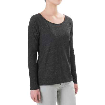 Artisan NY Raglan Jersey Shirt - Long Sleeve (For Women) in Charcoal - Closeouts