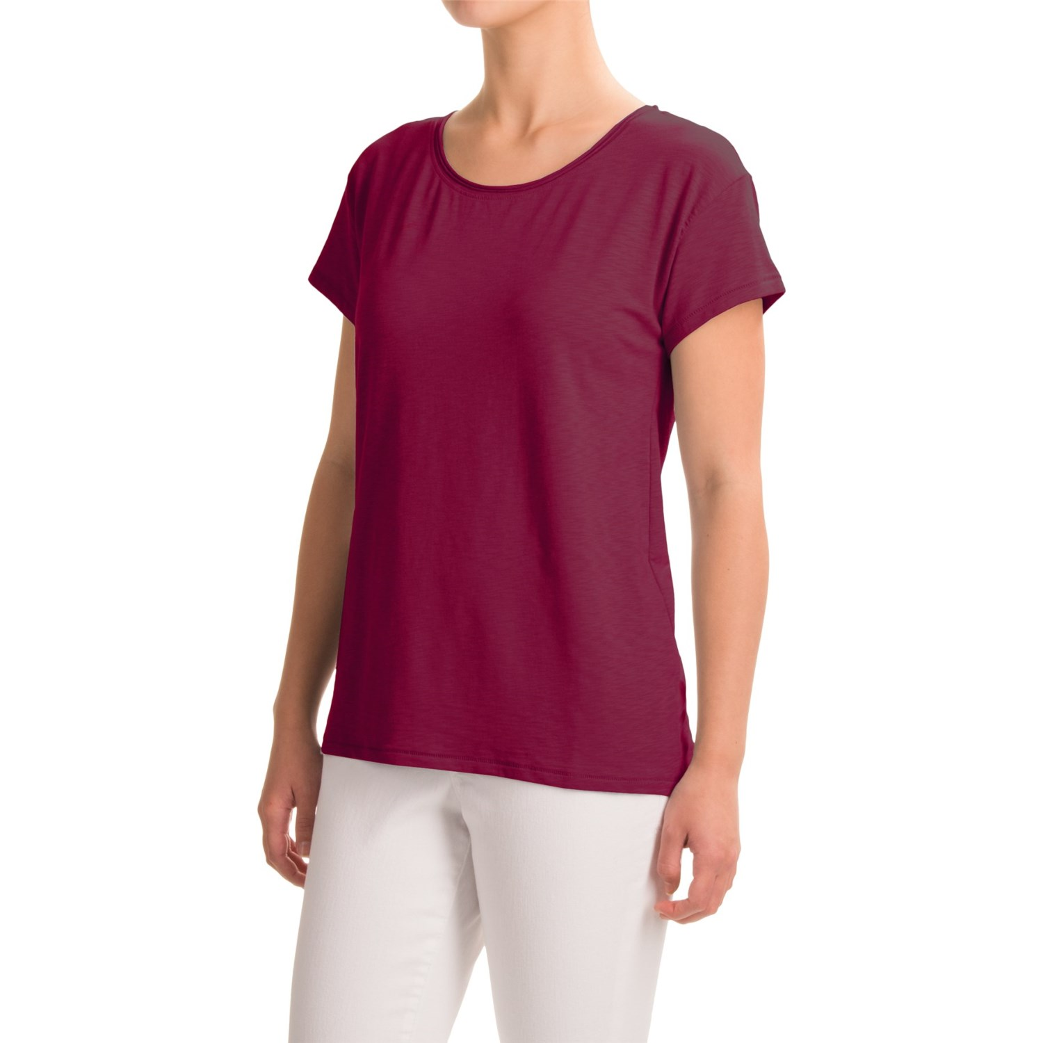 Artisan ny raw edge t shirt for women save 47 for Raw edge t shirt women s