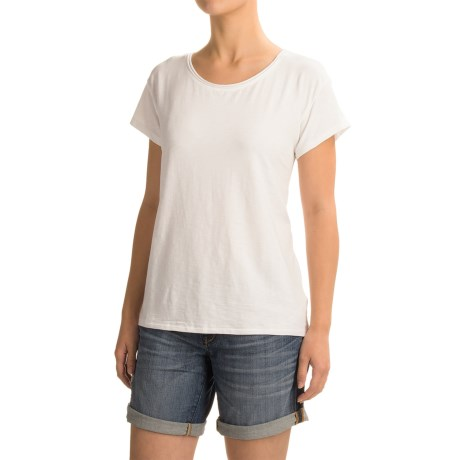 Artisan NY Raw-Edge T-Shirt - Short Sleeve (For Women) in White