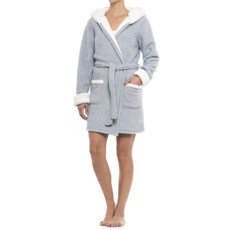 Image of Artisan NY Reindeer Hooded Robe - Long Sleeve (For Women)
