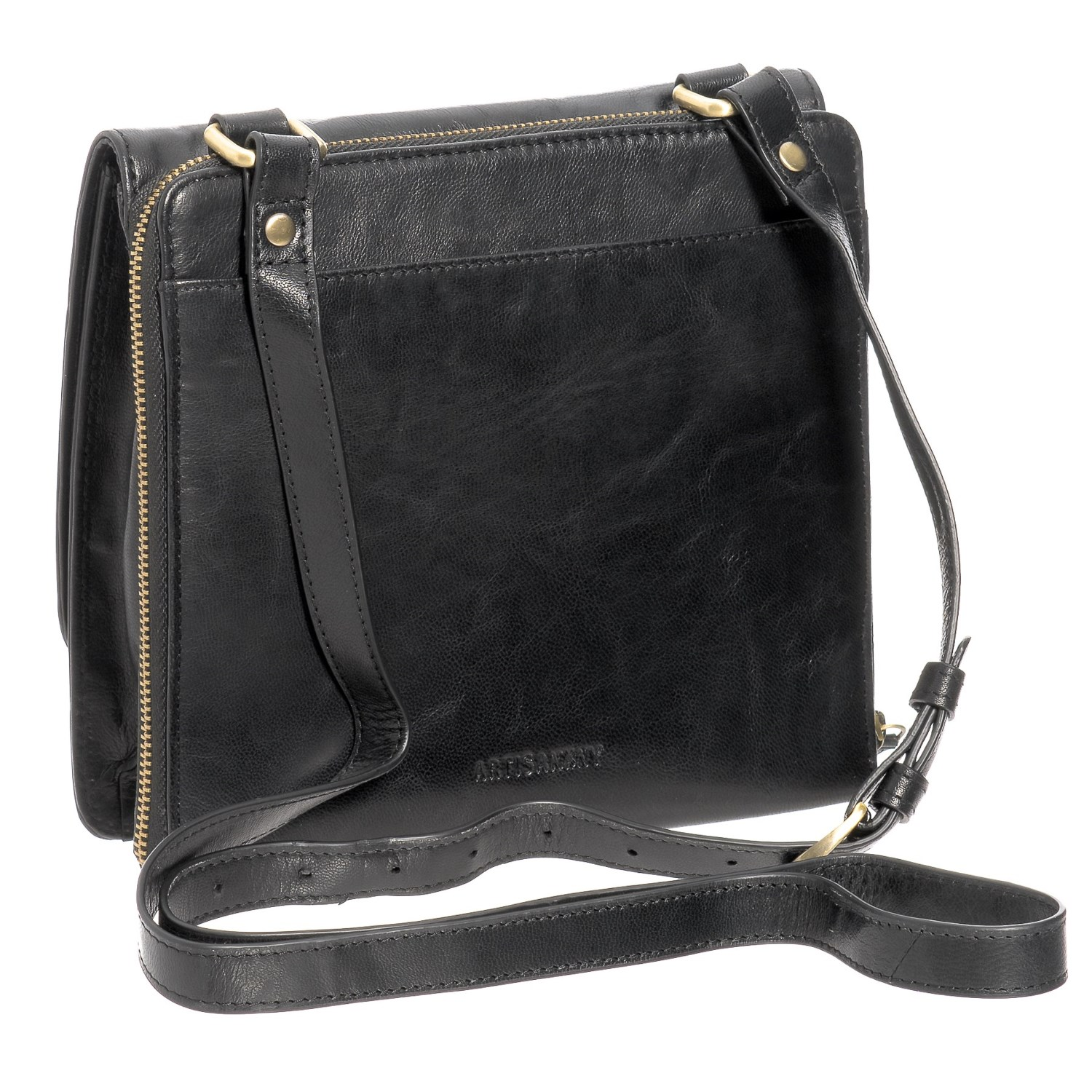 Ny Rubbed Leather Organizer Crossbody Bag