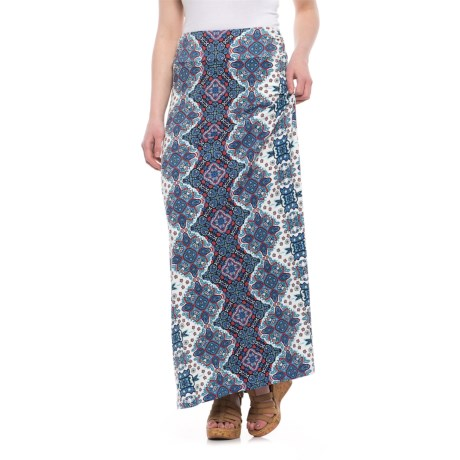 Artisan NY Ruched-Waistband Maxi Skirt (For Women) in Cream Combo