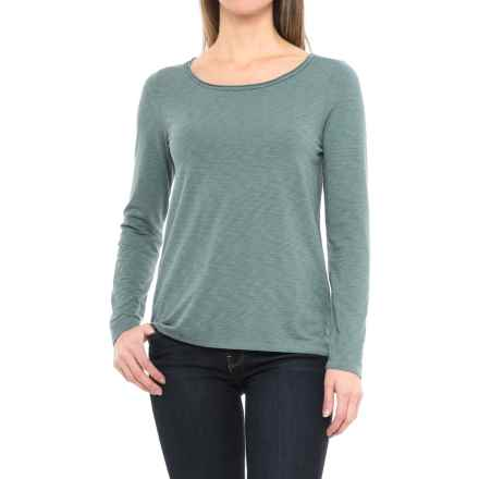 Artisan NY Scoop Neck Shirt - Long Sleeve (For Women) in Muted Forest - Closeouts