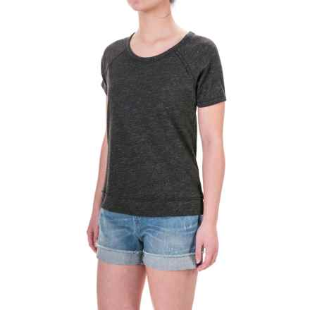 Artisan NY Scoop Neck Shirt - Short Sleeve (For Women) in Charcoal - Closeouts
