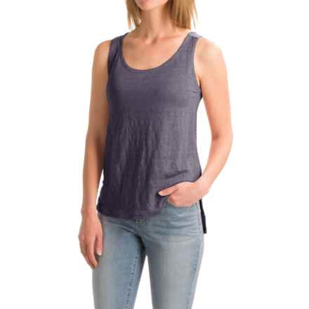 Artisan NY Shaped Front Tank Top - Linen-Cotton (For Women) in Dusted Slate - Closeouts