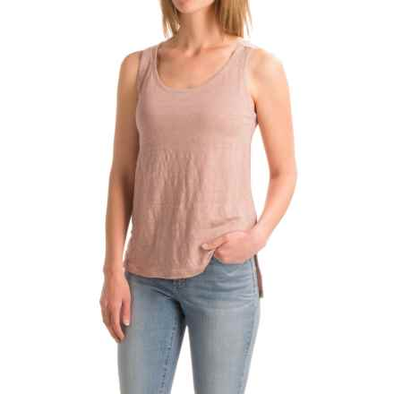Artisan NY Shaped Front Tank Top - Linen-Cotton (For Women) in Soft Mauve - Closeouts
