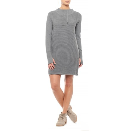 Artisan NY Shift Hooded Sweater Dress - Long Sleeve (For Women) in Gunmetal  Heather 5d586d5d0