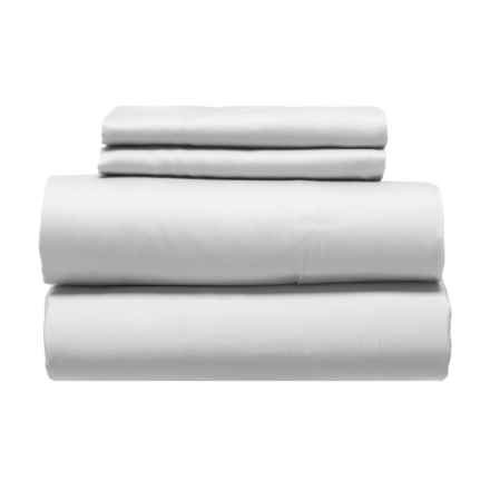 Artisan NY Silvery Lilac Sateen Cotton Sheet Set - Queen, 300 TC in Silvery Lilac - Closeouts