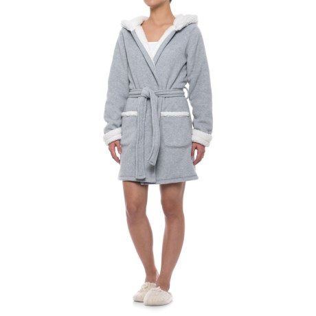 Image of Artisan NY Sleepwear Bear Robe with Santa Hat Hood - Long Sleeve (For Women)