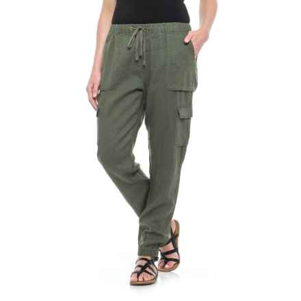 Artisan NY Solid Pull-On Pants - Linen (For Women) in Clover - Closeouts