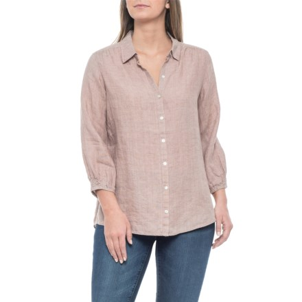 a5a398703d0 Artisan NY Sphinx Delave Linen Shirt - Cross Dye, 3/4 Sleeves (For