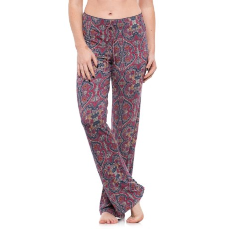 Artisan NY Stamped Damask Drawstring Lounge Pants (For Women) in Deep