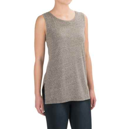 Artisan NY Step Hem Tank Top (For Women) in Light Grey - Closeouts