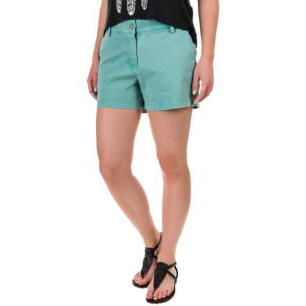 Artisan NY Stretch Twill Distressed Shorts (For Women) in Cove - Overstock