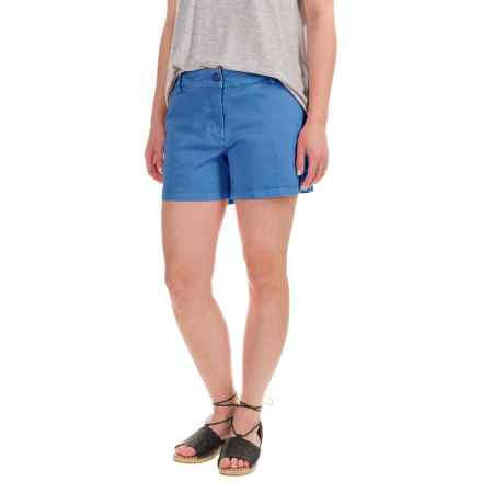 Artisan NY Stretch Twill Shorts (For Women) in Pacific Blue - Closeouts