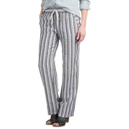 Artisan NY Striped Drawstring Pants (For Women) in Indigo/Ivory Stripe - Overstock
