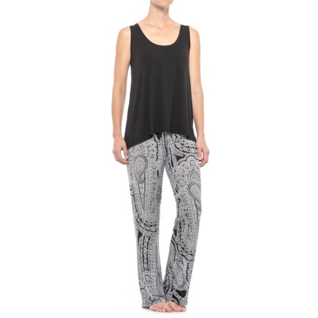 Artisan NY Swing Tank Top and Sleep Pants (For Women) in Black