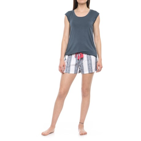 Artisan NY Tank Top and Shorts Pajamas (For Women) in Navy/Multi