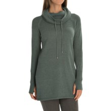 Artisan NY Textured Funnel-Neck Sweater (For Women) in Green Slate Heather - Closeouts