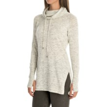 Artisan NY Textured Funnel-Neck Sweater (For Women) in Ivory Black Space Dye - Closeouts